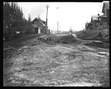 Street Improvement Photographs -- Box 40, Folder 18 (Mandery Avenue) -- negative, 1927-04-26