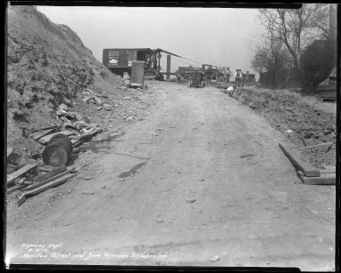 Street Improvement Photographs -- Box 40, Folder 19 (Manitou Street) -- negative, 1931-04-16
