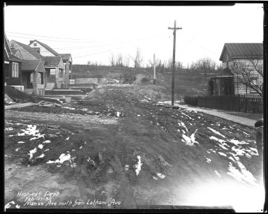 Street Improvement Photographs -- Box 40, Folder 20 (Manss Avenue) -- negative, 1930-02-17