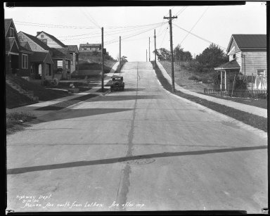 Street Improvement Photographs -- Box 40, Folder 20 (Manss Avenue) -- negative, 1930-09-19