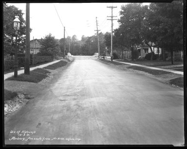 Street Improvement Photographs -- Box 40, Folder 22 (Marburg Avenue) -- negative, 1931-10-03