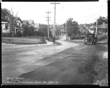 Street Improvement Photographs -- Box 40, Folder 22 (Marburg Avenue) -- negative, 1931-10-03