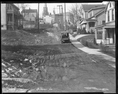 Street Improvement Photographs -- Box 40, Folder 23 (Maria Avenue) -- negative, 1930-02-21