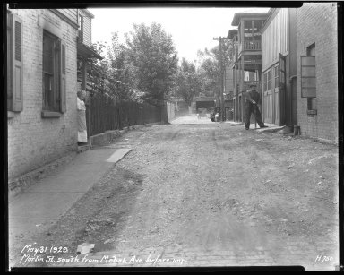 Street Improvement Photographs -- Box 40, Folder 27 (Marlin Street) -- negative, 1929-03-31
