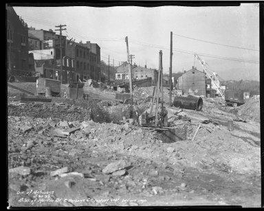 Street Improvement Photographs -- Box 40, Folder 29 (Martin Street) -- negative, 1936-11-30