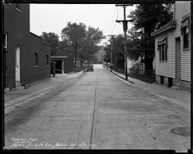 Street Improvement Photographs -- Box 40, Folder 31 (Mathis Street) -- negative, 1930-06-09