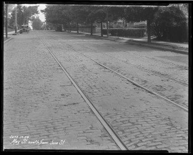 Street Improvement Photographs -- Box 40, Folder 32 (May Street) -- negative, 1928-06-14