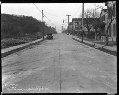 Street Improvement Photographs -- Box 40, Folder 32 (May Street) -- negative, 1931-12-28