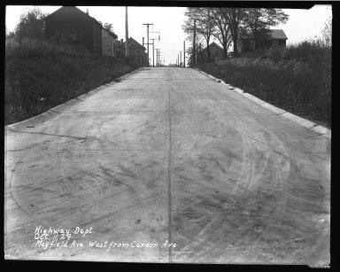 Street Improvement Photographs -- Box 40, Folder 33 (Mayfield Avenue) -- negative, 1929-10-11