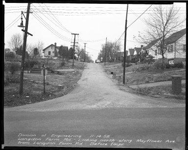 Street Improvement Photographs -- Box 40, Folder 34 (Mayflower Avenue) -- negative, 1952-11-14