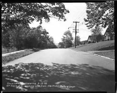Street Improvement Photographs -- Box 40, Folder 35 (McAlpin Avenue) -- negative, 1949-09-22