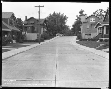 Street Improvement Photographs -- Box 40, Folder 36 (McFadden Avenue) -- negative, 1939-09-13