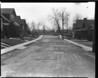 Street Improvement Photographs -- Box 40, Folder 36 (McFadden Avenue) -- negative, 1939-03-20