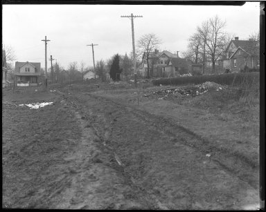 Street Improvement Photographs -- Box 40, Folder 37 (McFadden Avenue) -- negative, 1929