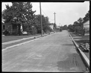 Street Improvement Photographs -- Box 40, Folder 38 (McFadden Avenue) -- negative, 1929
