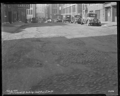 Street Improvement Photographs -- Box 40, Folder 39 (McFarland Street) -- negative, 1929-02-16