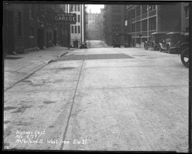 Street Improvement Photographs -- Box 40, Folder 39 (McFarland Street) -- negative, 1929-11-18