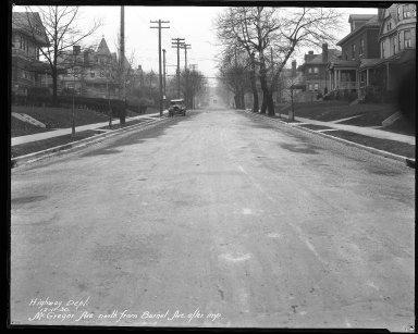 Street Improvement Photographs -- Box 40, Folder 40 (McGregor Avenue) -- negative, 1930-12-11