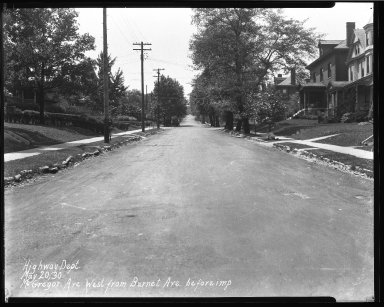 Street Improvement Photographs -- Box 40, Folder 40 (McGregor Avenue) -- negative, 1930-05-20