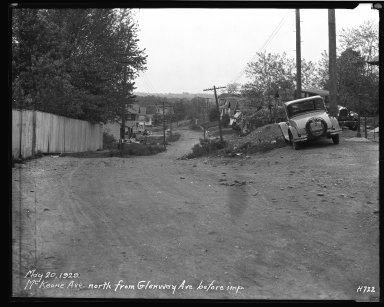 Street Improvement Photographs -- Box 40, Folder 42 (McKeone Avenue) -- negative, 1929-05-20