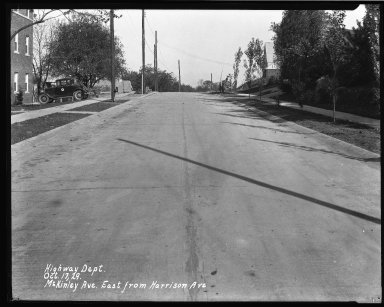 Street Improvement Photographs -- Box 40, Folder 43 (McKinley Avenue) -- negative, 1929-08-17