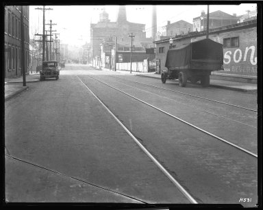 Street Improvement Photographs -- Box 40, Folder 44 (McMicken Avenue) -- negative, 1929-01-21