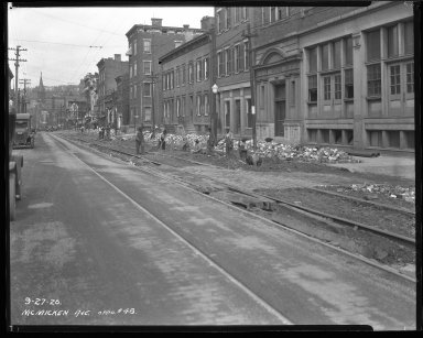 Street Improvement Photographs -- Box 40, Folder 45 (McMicken Avenue) -- negative, 1926-09-27