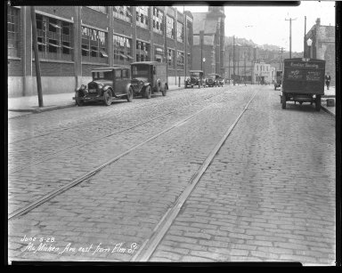 Street Improvement Photographs -- Box 40, Folder 45 (McMicken Avenue) -- negative, 1928-06-05