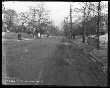 Street Improvement Photographs -- Box 40, Folder 47 (McMillan Street) -- negative, 1928-02-02