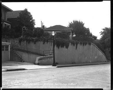 Street Improvement Photographs -- Box 40, Folder 49 (McMillan Street) -- negative, 1942-06-24