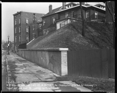 Street Improvement Photographs -- Box 40, Folder 49 (McMillan Street) -- negative, 1947-12-12