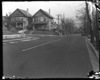 Street Improvement Photographs -- Box 40, Folder 51 (McMillan Street) -- negative, 1928-12-05