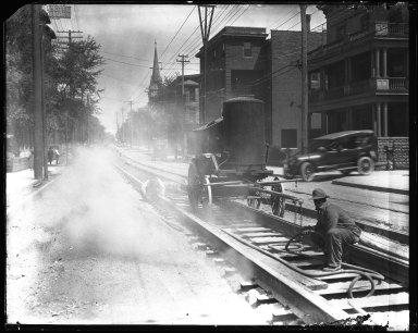 Street Improvement Photographs -- Box 40, Folder 53 (McMillan Street) -- negative, 1921