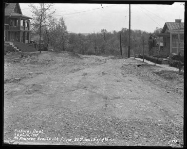 Street Improvement Photographs -- Box 41, Folder 11 (McPherson Avenue) -- negative, 1929-09-12