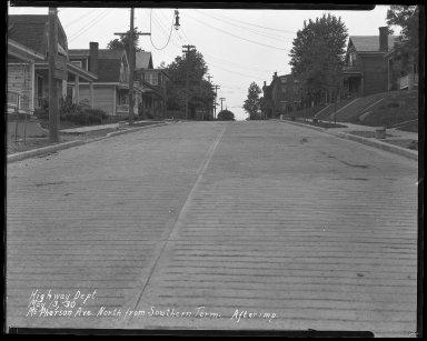 Street Improvement Photographs -- Box 41, Folder 11 (McPherson Avenue) -- negative, 1930-05-13