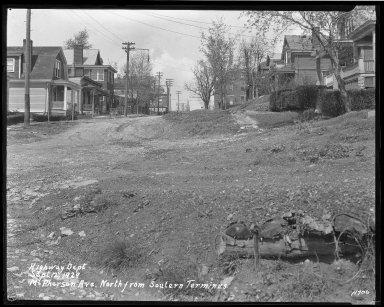 Street Improvement Photographs -- Box 41, Folder 11 (McPherson Avenue) -- negative, 1929-09-12