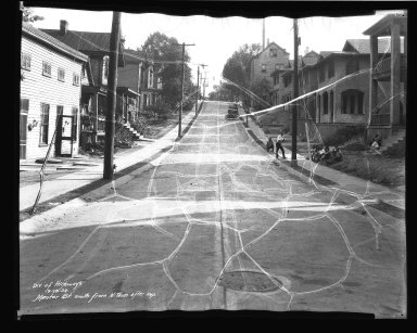 Street Improvement Photographs -- Box 41, Folder 12 (Mentor Street) -- negative, 1934-09-28