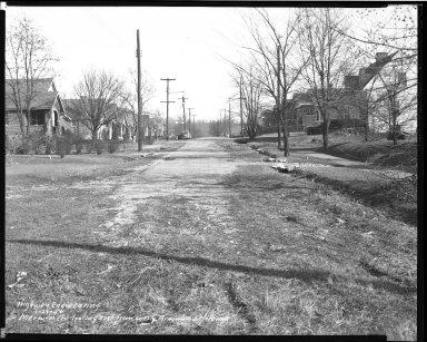 Street Improvement Photographs -- Box 41, Folder 14 (Merwin Avenue) -- negative, 1944-01-28