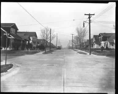 Street Improvement Photographs -- Box 41, Folder 14 (Merwin Avenue) -- negative, 1944