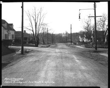 Street Improvement Photographs -- Box 41, Folder 15 (Merwin Avenue) -- negative, 1944-01-28