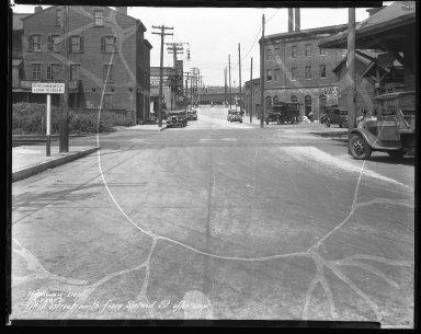 Street Improvement Photographs -- Box 41, Folder 16 (Mill Street) -- negative, 1931-07-28