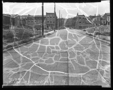 Street Improvement Photographs -- Box 41, Folder 16 (Mill Street) -- negative, 1931-07-08