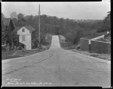 Street Improvement Photographs -- Box 41, Folder 19 (Minion Avenue) -- negative, 1931-11-04