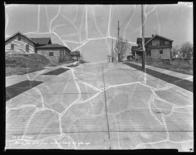 Street Improvement Photographs -- Box 41, Folder 19 (Minion Avenue) -- negative, 1932-04-06