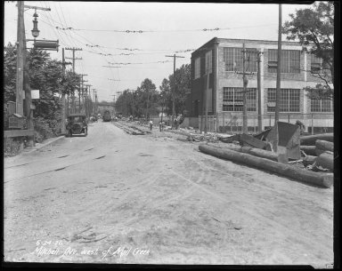 Street Improvement Photographs -- Box 41, Folder 20 (Mitchell Avenue) -- negative, 1926-06-24