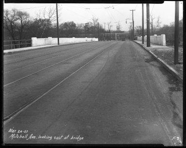 Street Improvement Photographs -- Box 41, Folder 20 (Mitchell Avenue) -- negative, 1927-03-24