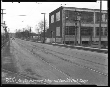 Street Improvement Photographs -- Box 41, Folder 20 (Mitchell Avenue) -- negative, 1927-01-05