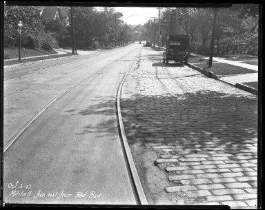 Street Improvement Photographs -- Box 41, Folder 20 (Mitchell Avenue) -- negative, 1927-10-03