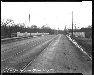 Street Improvement Photographs -- Box 41, Folder 21 (Mitchell Avenue) -- negative, 1927-01-05