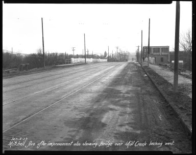 Street Improvement Photographs -- Box 41, Folder 24 (Mitchell Avenue) -- negative, 1927-01-05